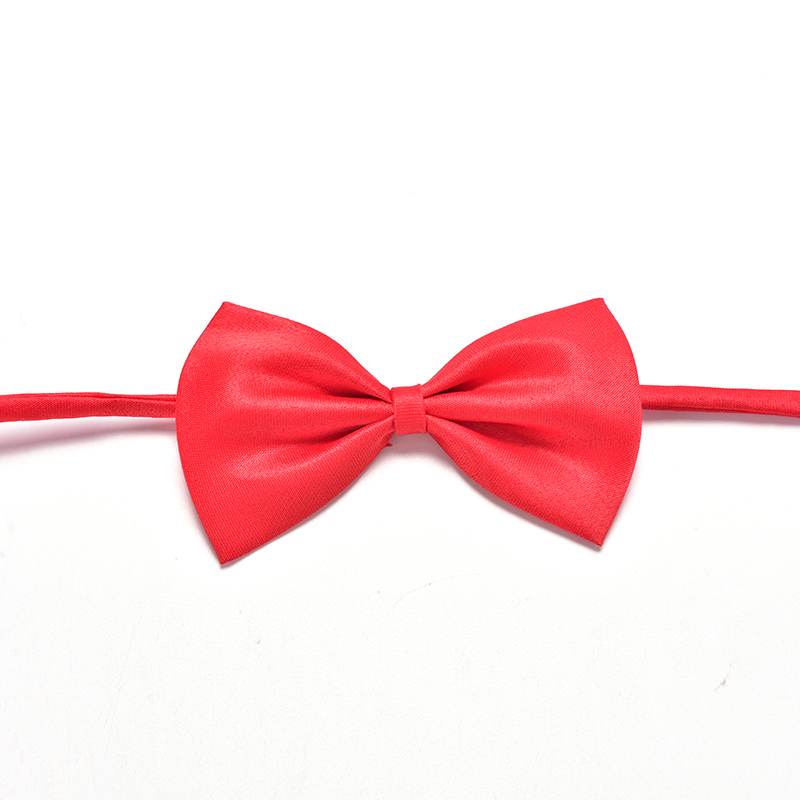 Cute Children Kid Solid Bow Ties With Wedding Party Neck Tie Promotion Boys Pre-tied Adjustable Bowtie Bow Tie