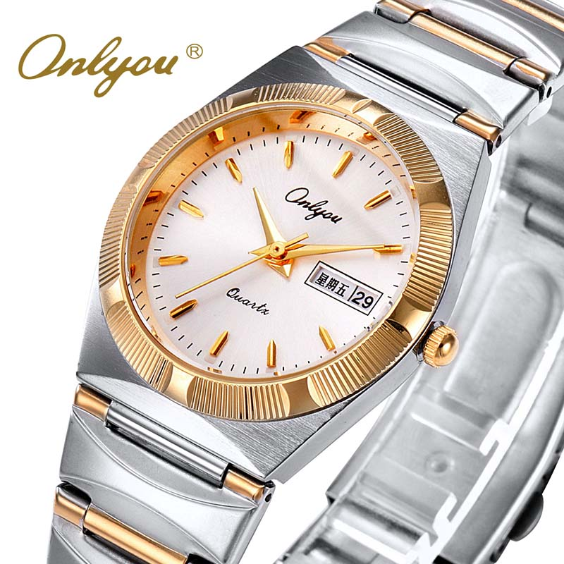 Women Watches Gold Stainless Steel  Female Clock Luxury Brand Business Ladies Quartz Watch Relogio Feminino jinen women new top quality brand watches japan quartz waterproof rose gold stainless steel watch business luxury female clock