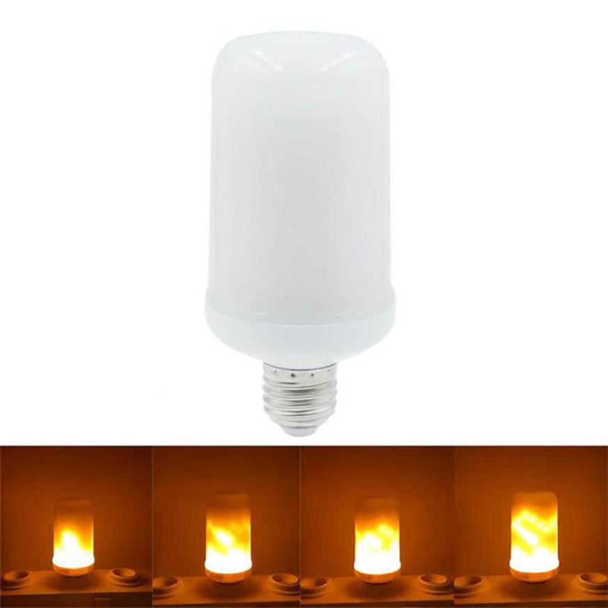 MUQGEW 7W E27 360Flame Flickering Effect Fire Light Bulb Decorative Holiday Flickering Emulation Flame Lights