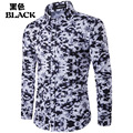 Brand Shirts for Men 2016 Fashion Printed Slim Long Sleeve Shirts for Boys Casual Camisas Hombre Plus Size