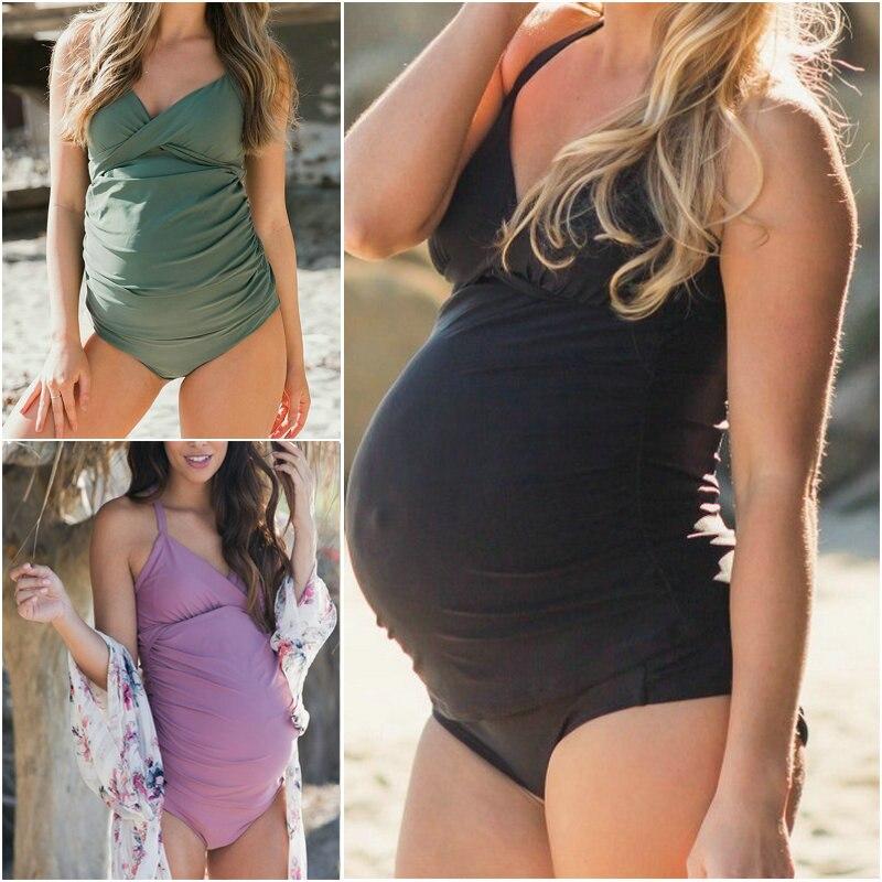 Maternity Women Swimwear Pregnant Swimsuit Size Pregnancy Swimsuit Beach Summer Bikini Bathing Bodysuit Clothes Pregnant Women