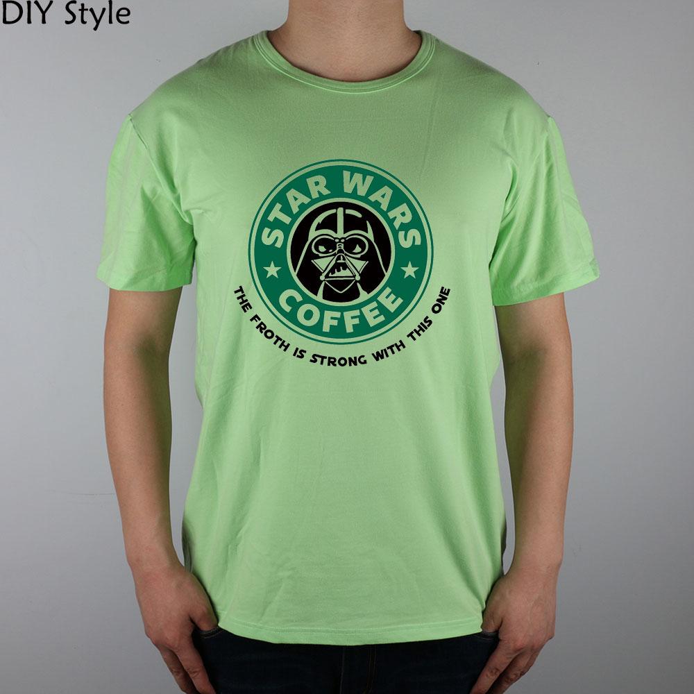 Звездные Войны Кофе сила сильна с этим футболка с короткими рукавами Топ из лайкры и хлопка Для мужчин футболка новый DIY стиль