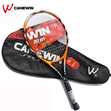 1 Pcs 75cm Beach Aluminum Alloy Tennis Racket CAMEWIN Brand Gym Outdoor Tennis Racket With Bag (Color: Black Yellow) Man Women(China)