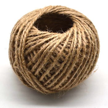 2mm 30M/Roll Burlap Rope Natural Jute Twine Burlap String Hemp Rope Wedding Gift Wrapping Cords Home Woven Decorative DIY Crafts 10m lot 15mm 38mm jute burlap ribbons diy handmade crafts hessian twine rope cords rustic wedding birthday party decoration