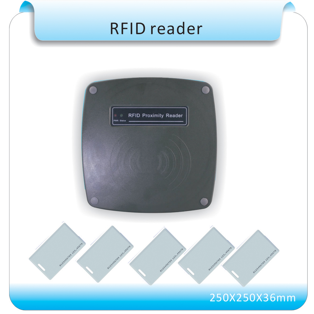 70-120mm Middle Reading Distance Range Wiegand 26 bit 125KHz EM ID RFID Reader/access control long range reader tarjeta antenna free shipping 70 100cm long range reader wiegand 26 access control parking system