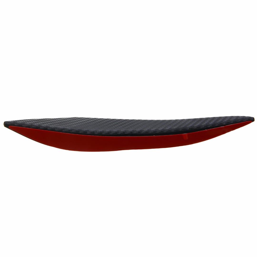 6pcs/set Carbon Fiber Style Car Front Bumper Lip Splitter Body Spoiler Canards Universal For Cars Exterior Accessories