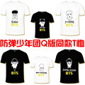 HPEIYPEI KPOP Korean Fashion BTS Bangtan Boys 2016 Album Young Forever Q Cartoon Boneca Cotton Tshirt K-POP T Shirts T-shirt