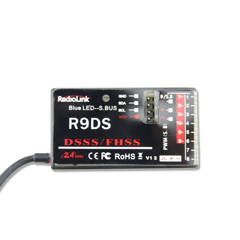 R9DS 2.4G 9CH DSSS FHSS Récepteur pour AT9 AT9S AT10 Émetteur RC Hélicoptère Multicopter Support S-BUS