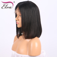 Elva Hair Curly 180 Density 360 Lace Frontal Wigs With Baby Hair Pre Plucked Natural Hairline