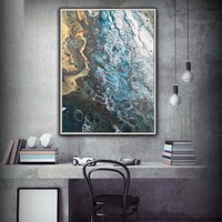 Art Abstract Painting Coastal Home Decor Modern Canvas oil painting on canvas Gift Wall Decor LARGE sizes Beach House Art Canvas