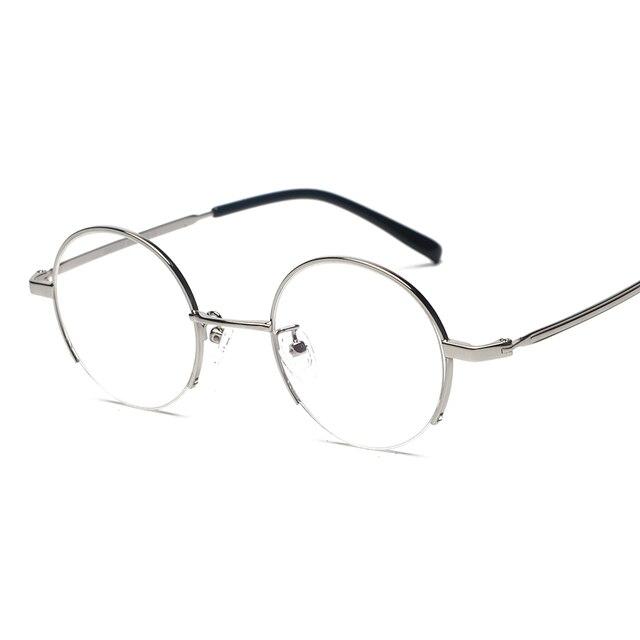 b8966f5a3 2017 Mens Redondos Óculos de Armação Mulheres Óculos Claros Óculos de Aros  de Ouro Retro Óculos