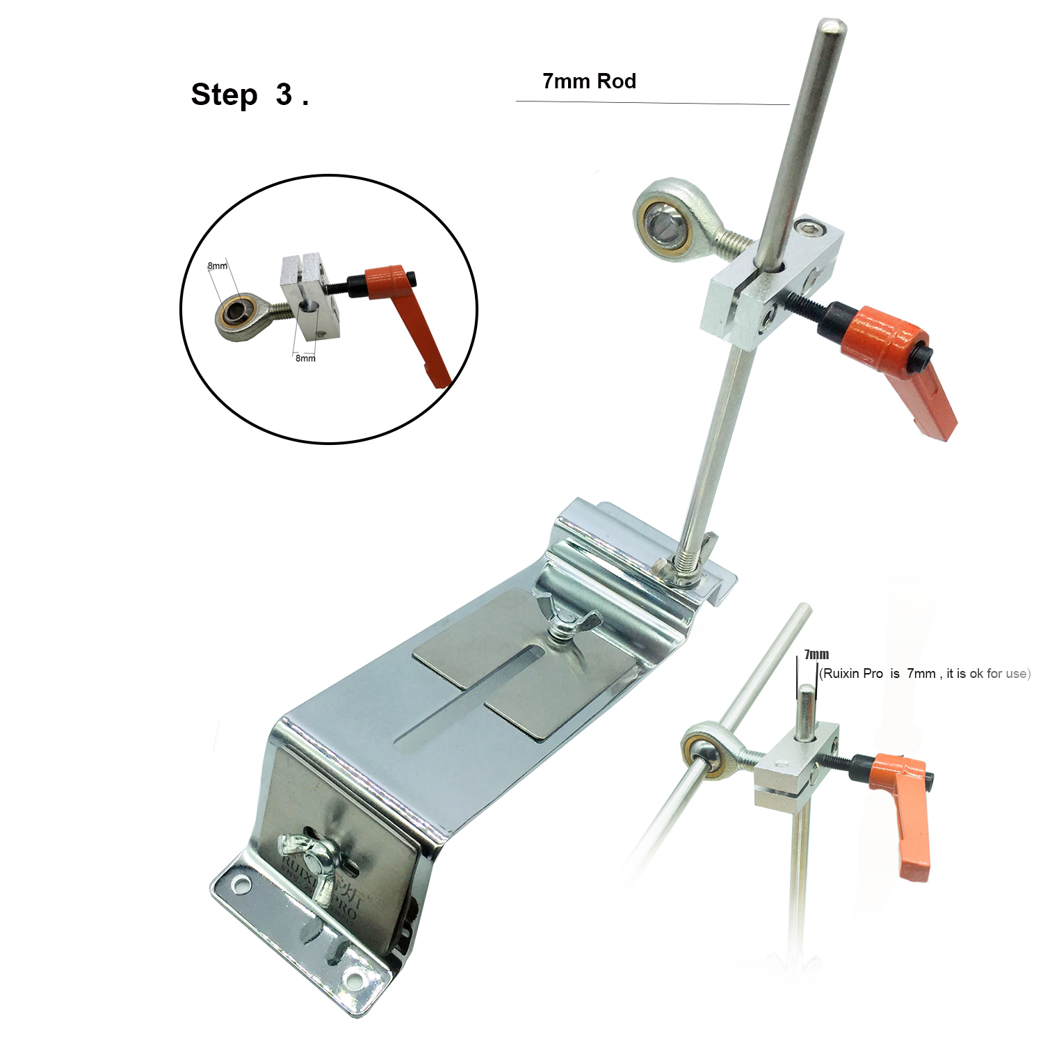 Image 4 - Edge Knife sharpener system reversal clip Cross slider Double row clip Advanced version-in Abrasive Tools from Tools