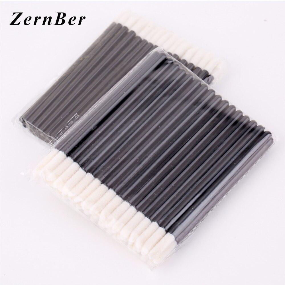 1000 stücke einweg lipbrush bilden pinsel reiniger reinigung make-up pinsel applikatoren hohl lippenpinsel stift