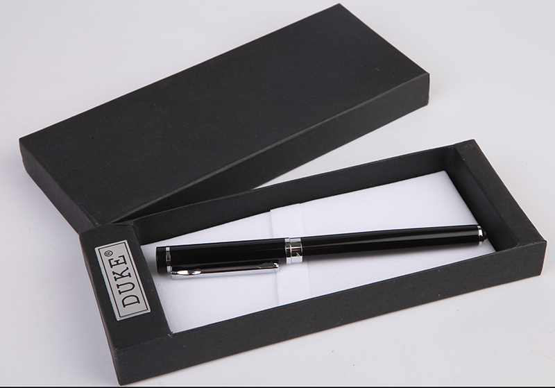 Stationery Promotion Duke P3 Series Fashion Smooth Black And Silver Rollerball Pen Luxury Metal Gift Black Rollerball Pen Refill
