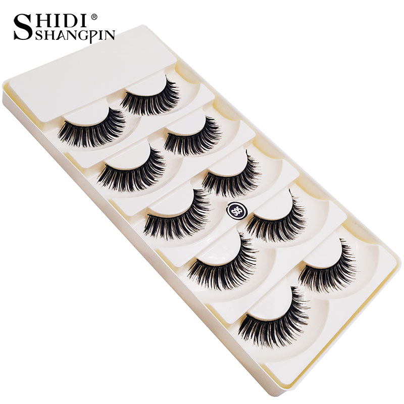 5 Pairs False Eyelashes Natural Long Lashes Make Up Eyelash Extension Makeup Eye Lashes Wispy False Eyelashes S05 Can customized