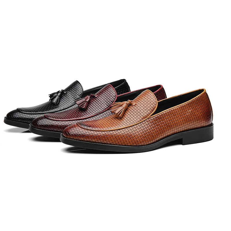Nieuwe mannen feestjurk schoenen krokodil patroon ademend mode - Herenschoenen - Foto 6