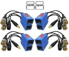 Pripaso 4 pair 패시브 비디오 balun bnc to rj45 어댑터, full hd 1080p 5mp 감시 보안 카메라 이더넷 케이블