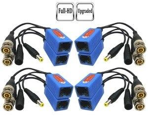 Image 1 - Адаптер Pripaso BNC для RJ45, 4 пары, Пассивный, с питанием, Full HD, 1080P 5MP, камера видеонаблюдения, кабель Ethernet