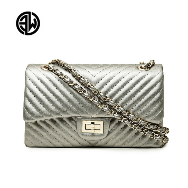 Brand  Female 2020 New Handbags Chevrons Fashion Chain Shoulder Bag Messenger Bag Cover Small Square Package luis vuiton gg bag