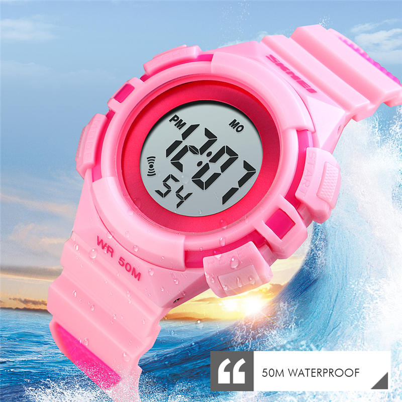 50m Waterproof Children's Watch Child Watches Swim Outdoor Sports Electronic Clock Premium Brand Kid Wristwatch Alarm Luminous A