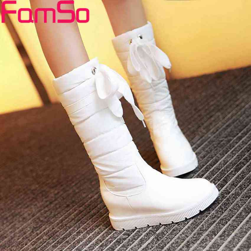 Plus Size34 43 2016 New Arrival font b Women b font Boots Black Spring Knee Down