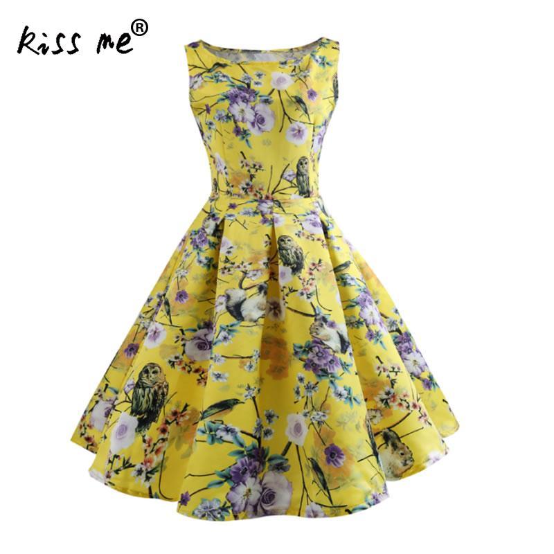 Мода 2018 летнее платье Для женщин платья трапециевидной формы дамы рукавов пляжное платье большой маятник Тип цветочный Платье из одного пр...
