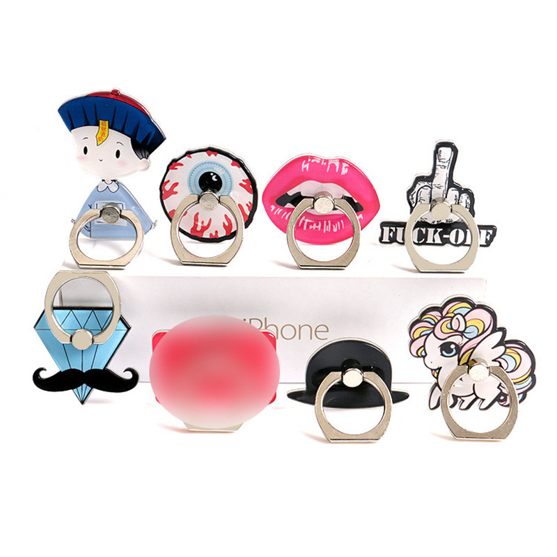 Mobile Phone Bracket Ring Buckle Phone Holder Harajuku Style Lips Diamond 360 Degree Rotating Lazy Cell Phone Ring