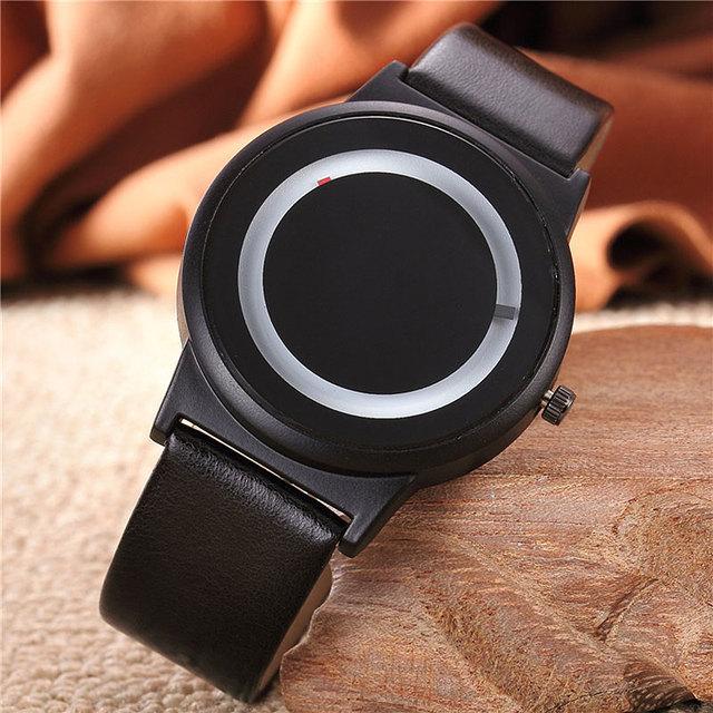 Couples Watch Harajuku Style Clock Candy Color PU Leather Strap Quartz Wrist Watches For Unisex Women Men TT@88