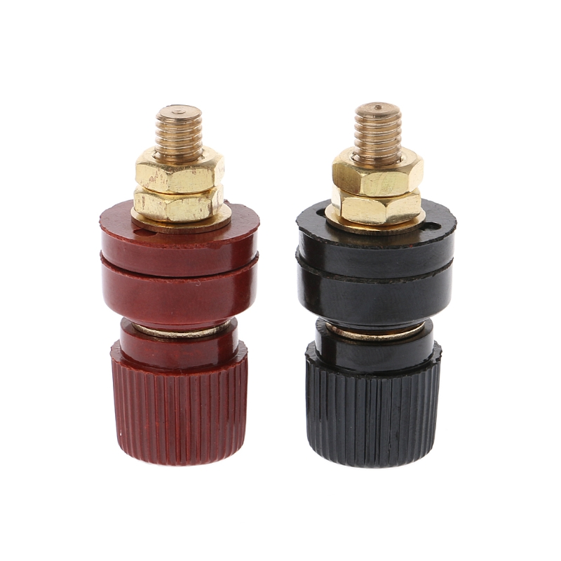 New 1 Pair 6mm 333 Binding Post For Power Amplifier Terminals AC Power Audio Adapter