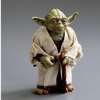 Star War Action Figure Toys Jedi Knight Master Yoda PVC Action Toys 12cm