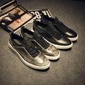 2016 Nueva Primavera de La Moda Atan Para Arriba Transpirable Hombres Casuales Zapatos Planos Masculinos