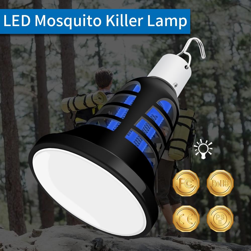USB Mosquito Killer Lamp LED E27 Insect Bulb Electric Anti Zapper 220V Light 110V Fly 5V