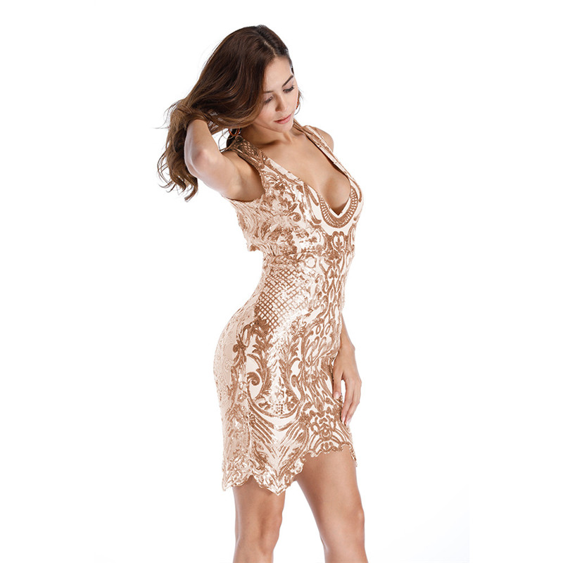 Sparkly Sequin Party Dresses Sexy Sequin Bodycon Dress Glitter Vintage Floral Sequins Christmas Dress Clubwear Details Clothing