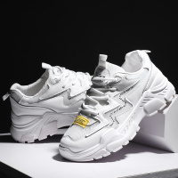 CAMTOO New Women's Sneakers White Color Lace Up Platform Shoes Woman Thick Soled Vulcanize Shoes Comfortable Footwear