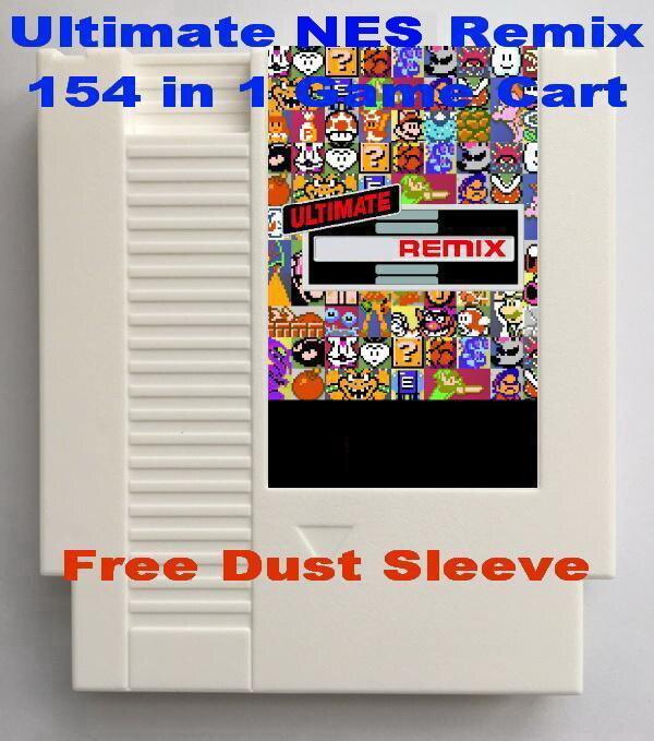 Ultimate Remix NES 154 в 1 патрон игры для NES консоли