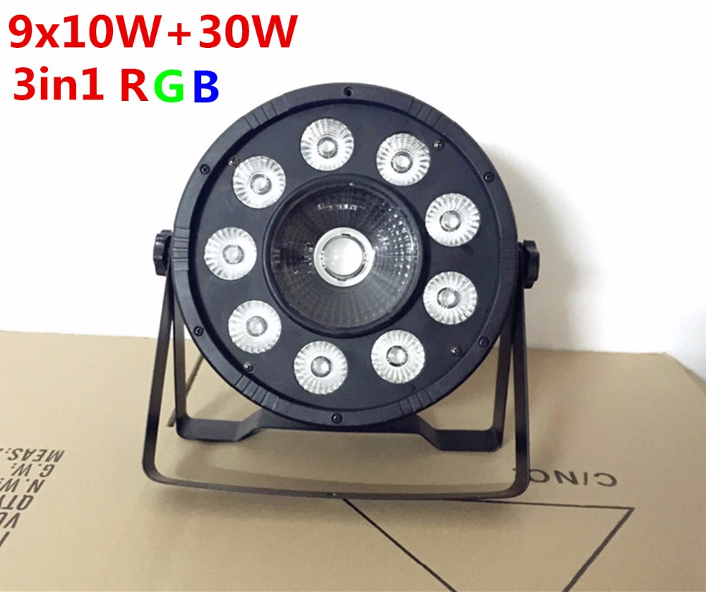 8pcs/lot 9X10W+1X30W RGB 3in1 LED Par LED Stage Lighting DJ Light DMX Led Par dj disco light
