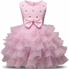 d4896119f77c4 Diamant filles robes fête bébé filles sans manches grand arc princesse robe  de mariée enfants fête