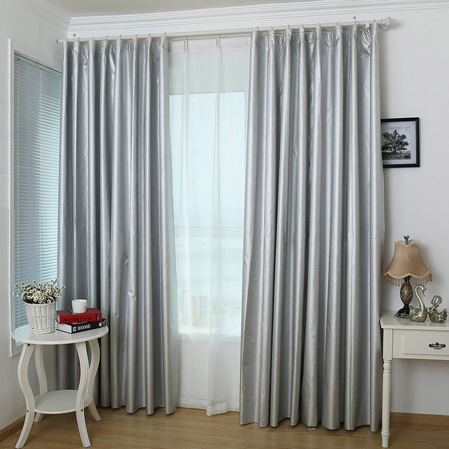 custom made solid color blackout curtains for the bedroom thickening modern curtains for living room window