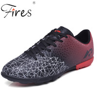 Fires Turf Soccer Shoes For Man's Hard Court Boy Sports Football Sneakers Size 35-45 Men High Ankle Shoes Indoor Chuteiras
