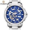 Часы STARKING мужские  деловые  механические  с скелетом  наручные часы Laikrodis TM0901