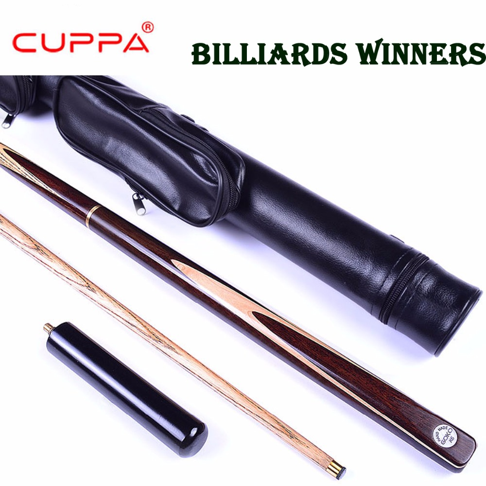 Cuppa 3/4 Piece Snooker Cue Stick Kit with Case 5A North America Ash Billiard Stick 9.8mm/11mm Tip Billiard Cue Snooker Stick