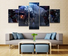 Kerrigan StarCraft Game 5 Piece HD Print Home Painting Wall Art Canvas For Living Modern Decorative