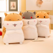 цены Hot Sale Soft Hamster Plush Doll Toy 30/40/50/60CM Hamster Stuffed Animals Doll Hamtaro Toys For Kid Baby Cushion Birthday Gifts