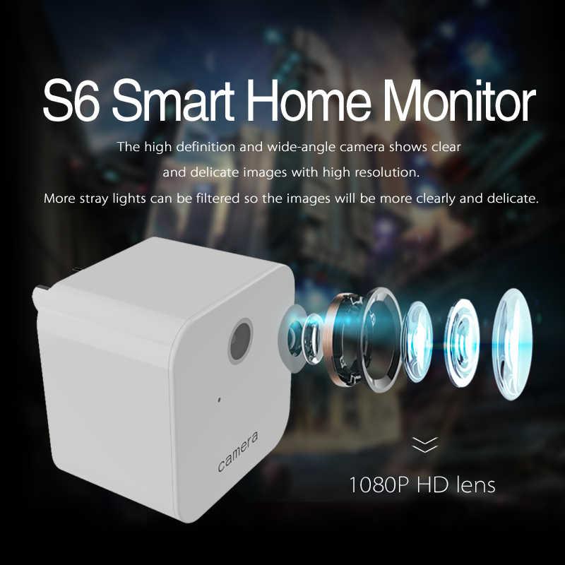Wi-Fi, P2P мини Камера HD 1080 P Ночное видение Обнаружение движения многофункциональная розетка видеокамера для смартфонов App в реальном времени, в том числе