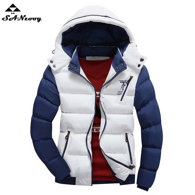 2017 Fashion Ultralight Spring Winter Warm Jacket Men Cotton Brand Clothing Thick Zipper Slim Men's Jackets Parkas Designer Fit