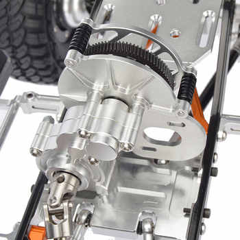 RC CNC Alloy SCX10 Chassis 1/10 Scale 4WD Rock Crawler Frame Kit Assembled With The Side Step Lateral Pedal