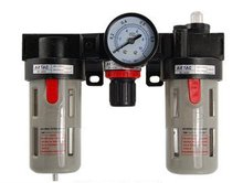 Free Shipping 2PCS/Lot BC-2000 Pneumatic Air Source Treatment Unit w Regulator Gauge