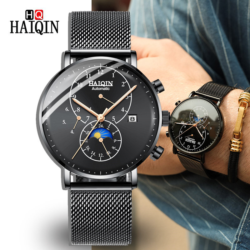 Watch Men HAIQIN 2019 Automatic Fashion Luxury Clock Men s Tourbillon Waterproof Mechanical Watches Top Brand