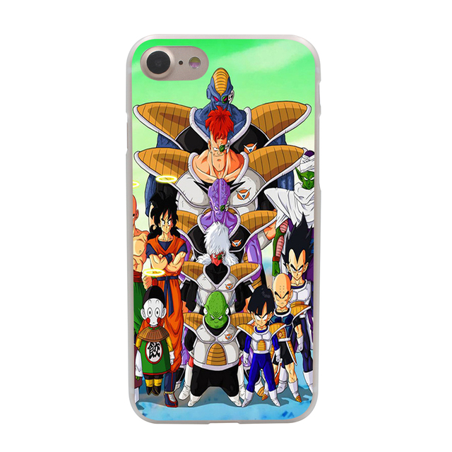 Dragon Ball z goku Hard Phone Cover Case Transparent for Apple iPhone 7 7 Plus 6 6s Plus 5 5S SE 5C 4 4S Coque Shell