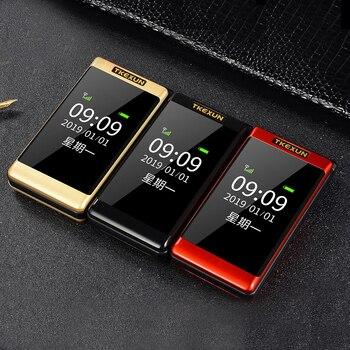 Tkexun Clamshell Mobile Phone Dual Display SOS Fast Call Russian Big Key Bluetooth Cheap Price Torch Flip Senior Telephone